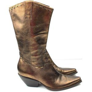BCBGirls boots size 8.5 bronze metallic Leather
